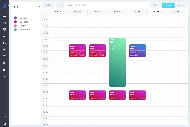 Online scheduler for pet sitter