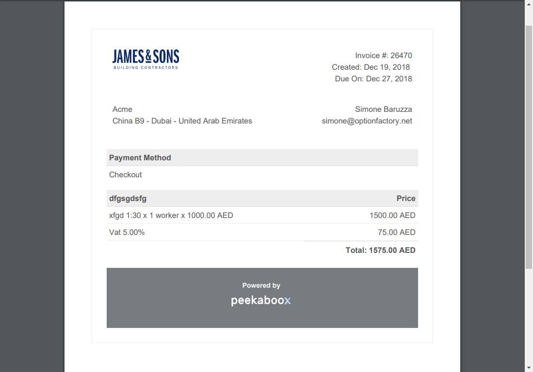 invoice logo screenshot